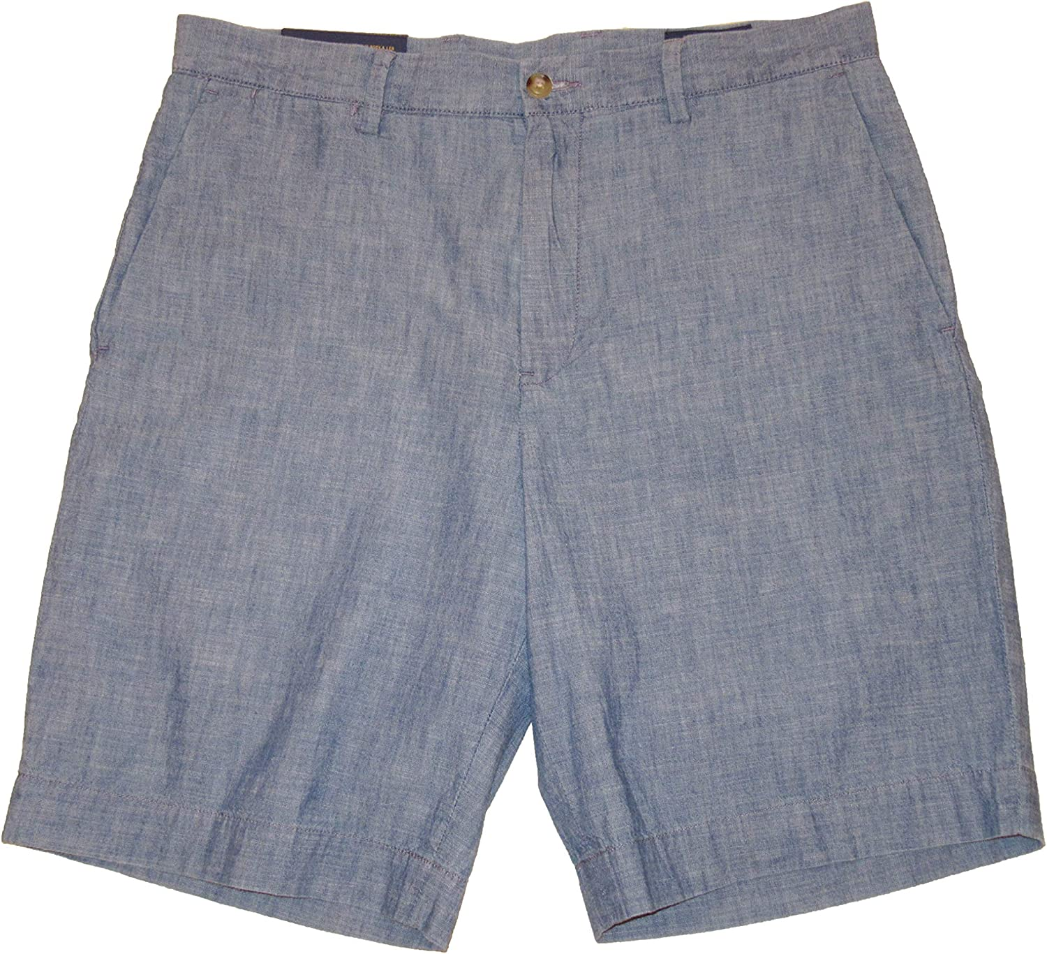 """Ralph Lauren Polo Mens Classic Fit 9"""" Chambray Flat Front Shorts"""