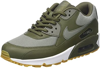 on sale fd1c7 2eb92 Nike Women s Air Max 90 Low-Top Sneakers, Green (Med Olive Dark  Stucco-Sequoia-Gum Light Brown 205), 3.5 UK  Amazon.co.uk  Shoes   Bags