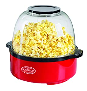 Nostalgia SP660RED 6-Quart Stir Popper Popcorn Maker