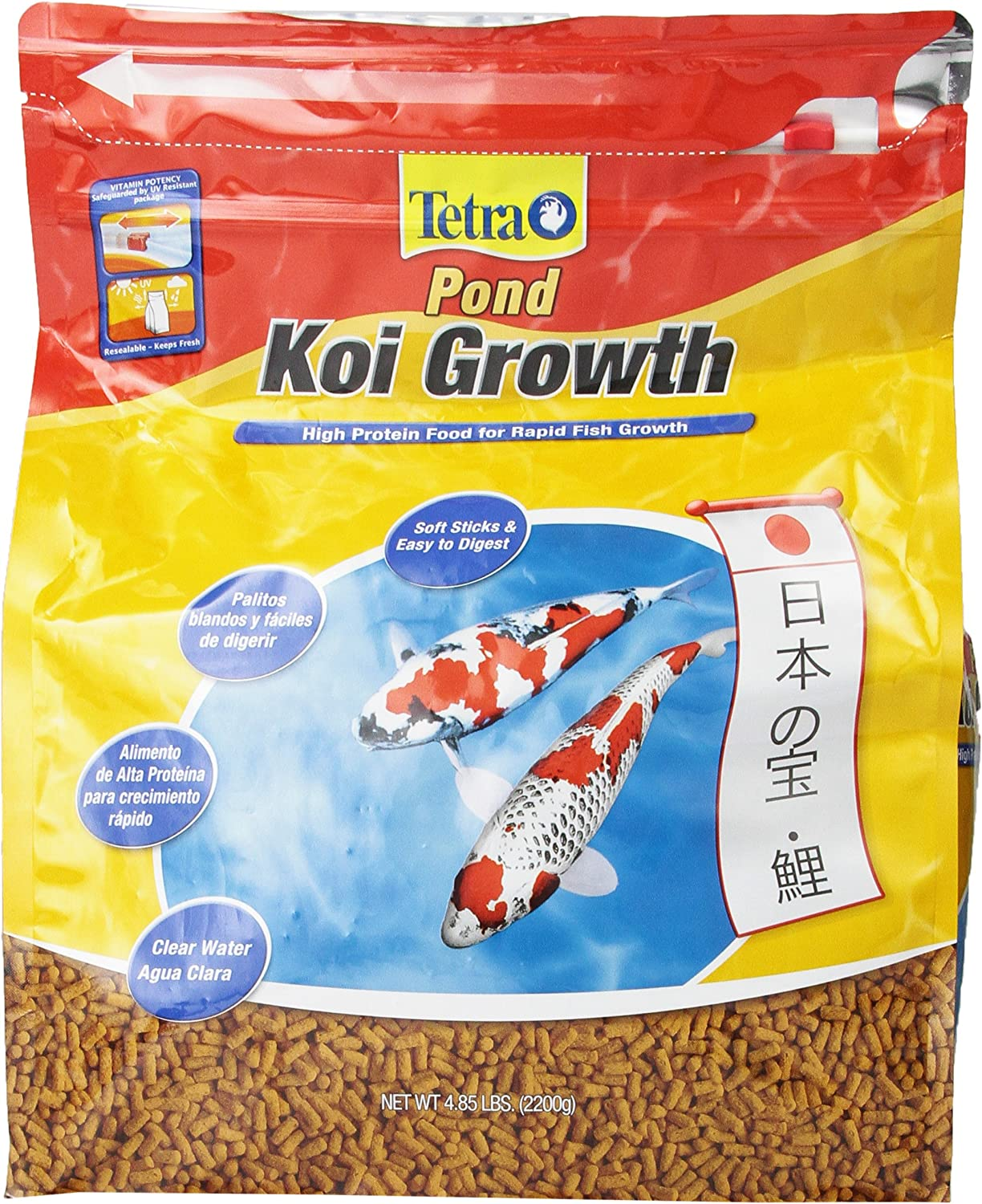 Tetra Pond High Protein Koi Growth Sticks Food