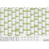 Schulkalender, Schuljahresplaner,Schülerkalender 2017/18 DIN A1 84,1 x 59,4 cm gefaltet