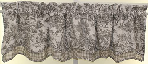 The Curtain Shop Classic Victorian Toile 70Wx15L Bradford Valance-Grey