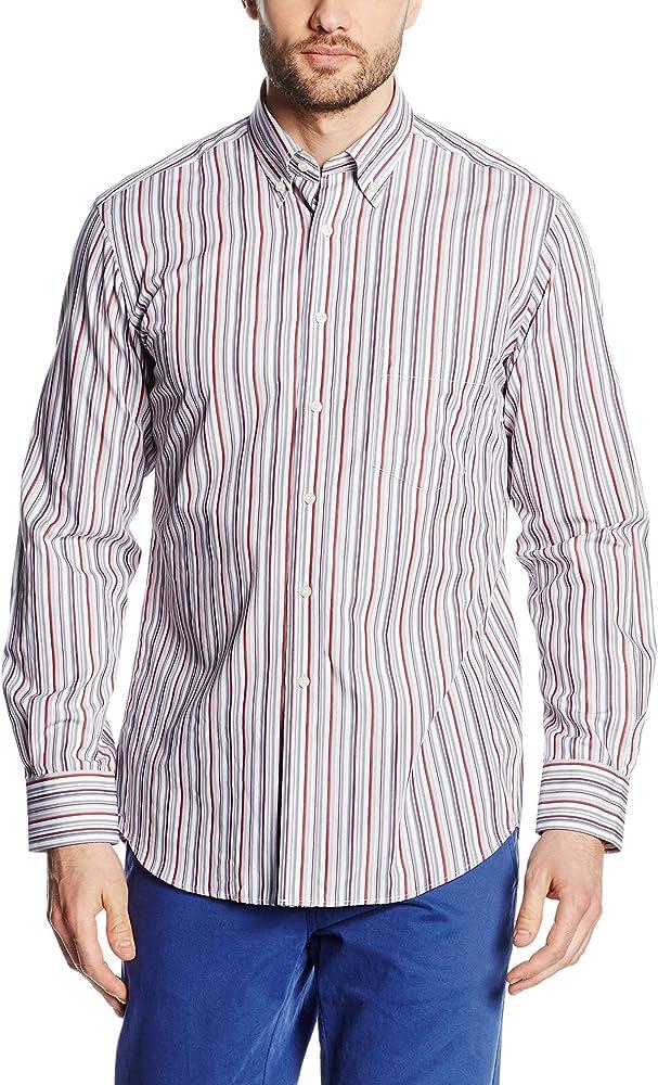 Mirto Camisa Hombre Happy Coral/Blanco 2XL: Amazon.es: Ropa y accesorios