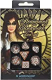 Q-Workshop Steampunk Clockwork Caramel & White Dice Set (7 Piece)