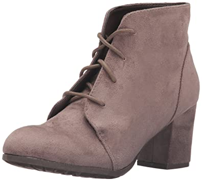 f9b2924e9 Madden Girl Womens Torch Fabric Round Toe Ankle Fashion, Dark Taupe, Size  5.0