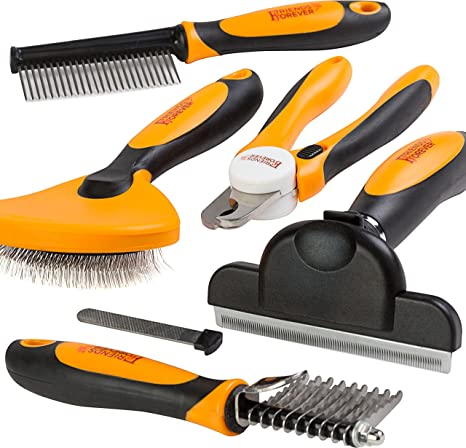 Amazon Com Friends Forever 6 In 1 Professional Pet Grooming Kit Box Cats Dogs Nail Clippers File Wire Dog Brush Slicker Brush Deshedding Tool Dematting Comb Undercoat Rake Sync66 0047upc