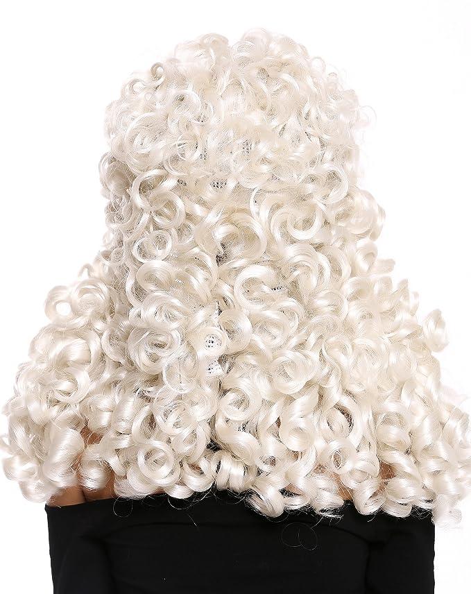 WIG ME UP ® - B17-2P-B-60 peluca de mujer hombre Barroco ...