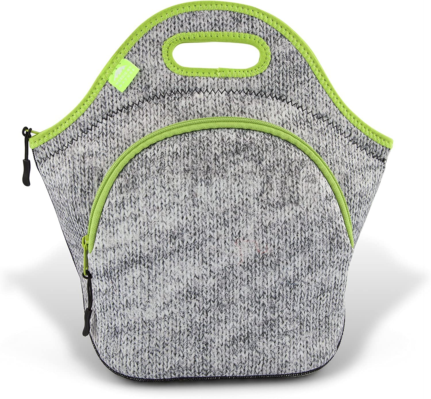 Lunch Bags For Women & Lunch Boxes For Kids | Nordic By Nature Premium Insulated Lunch Box Extra Thick Neoprene, Soft Cotton Feel, Premium Stitching, Outside Pocket, Washable (L) Gray Melange