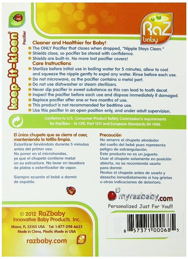 Razbaby - Chupete con cierre automático, diseño de oso