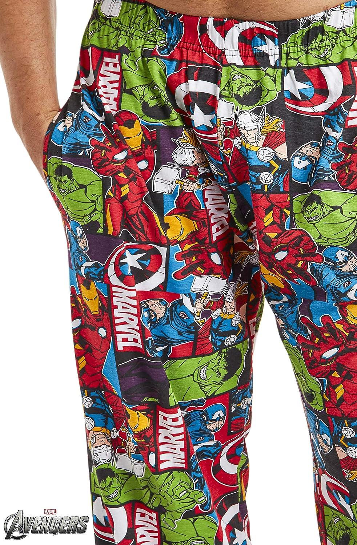 Pantalones Largos de Pijama para Hombres Avengers con Iron Man Capitan America Hulk y Thor Marvel Pijama Hombre Ropa de Dormir 100/% Algodon Regalos Originales para Hombres