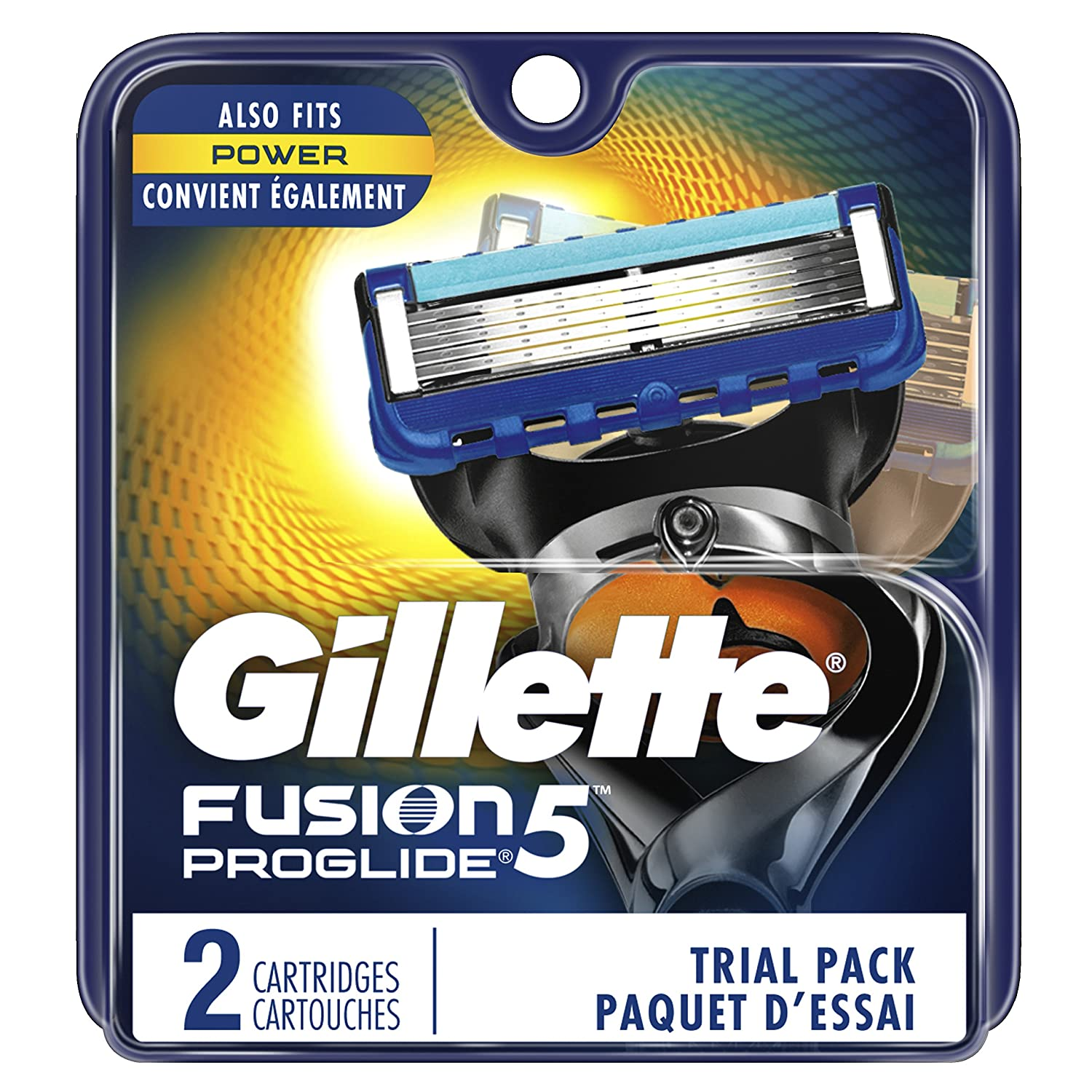 Gillette Fusion ProGlide Manual Men's Razor Blade Refills 2-Count, 0.04-Pound- Packaging May Vary