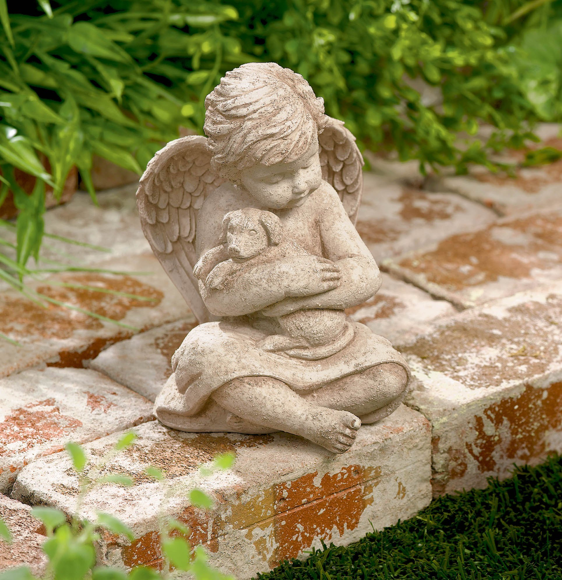 Grasslands Road Cherub with Dog, 7-Inch, Gift Boxed by Grasslands Road (Image #2)