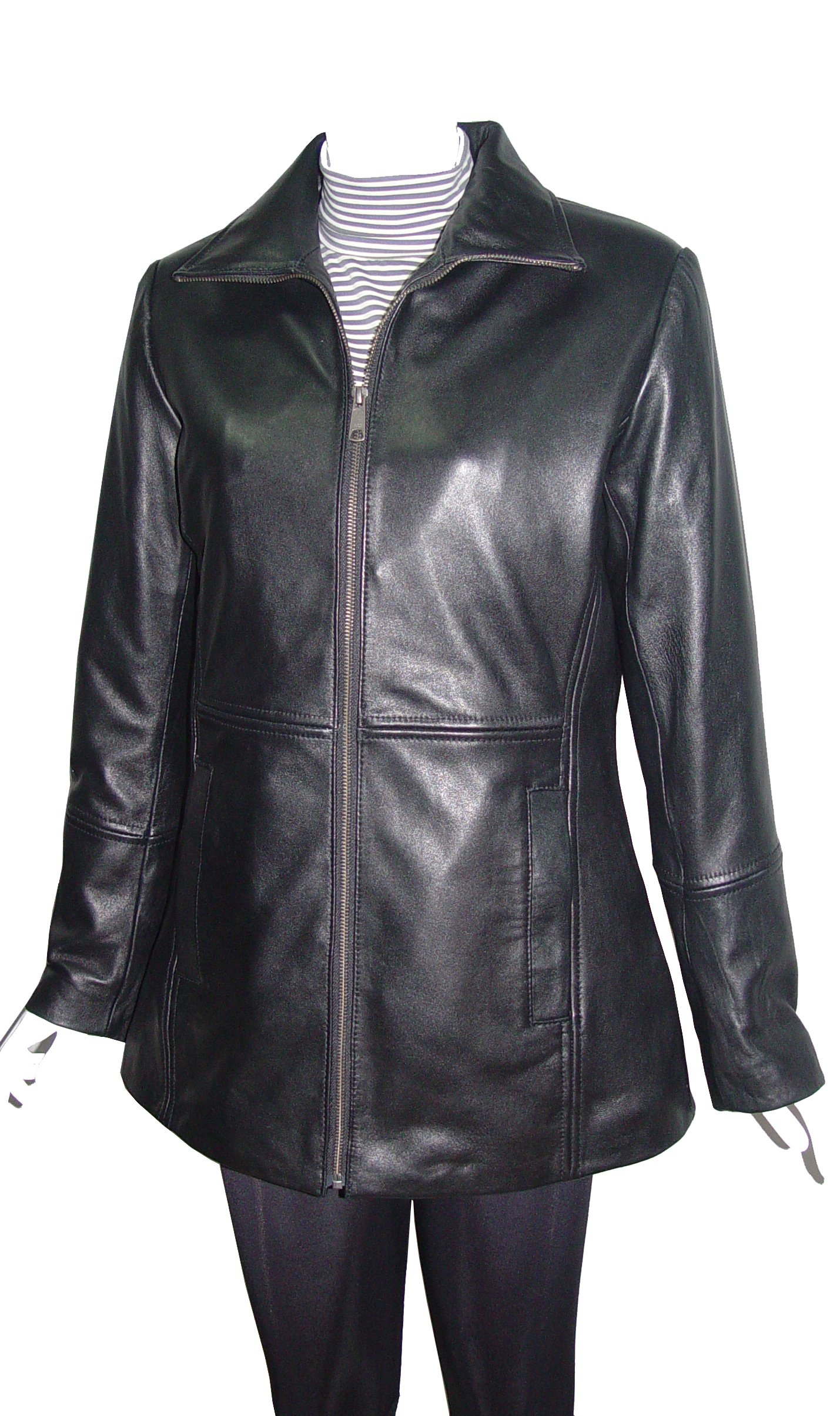 Nettailor Big Women Tall PLUS & ALL SIZE 4186 Soft Leather Casual Long Jacket