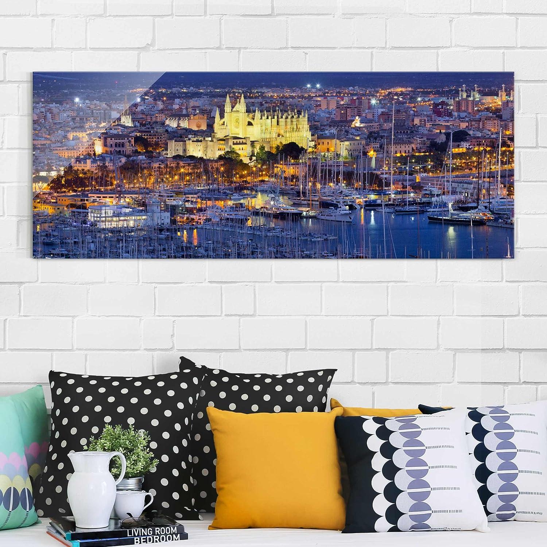 Impresión en cristal de pared Art - Palma de Mallorca ciudad ...