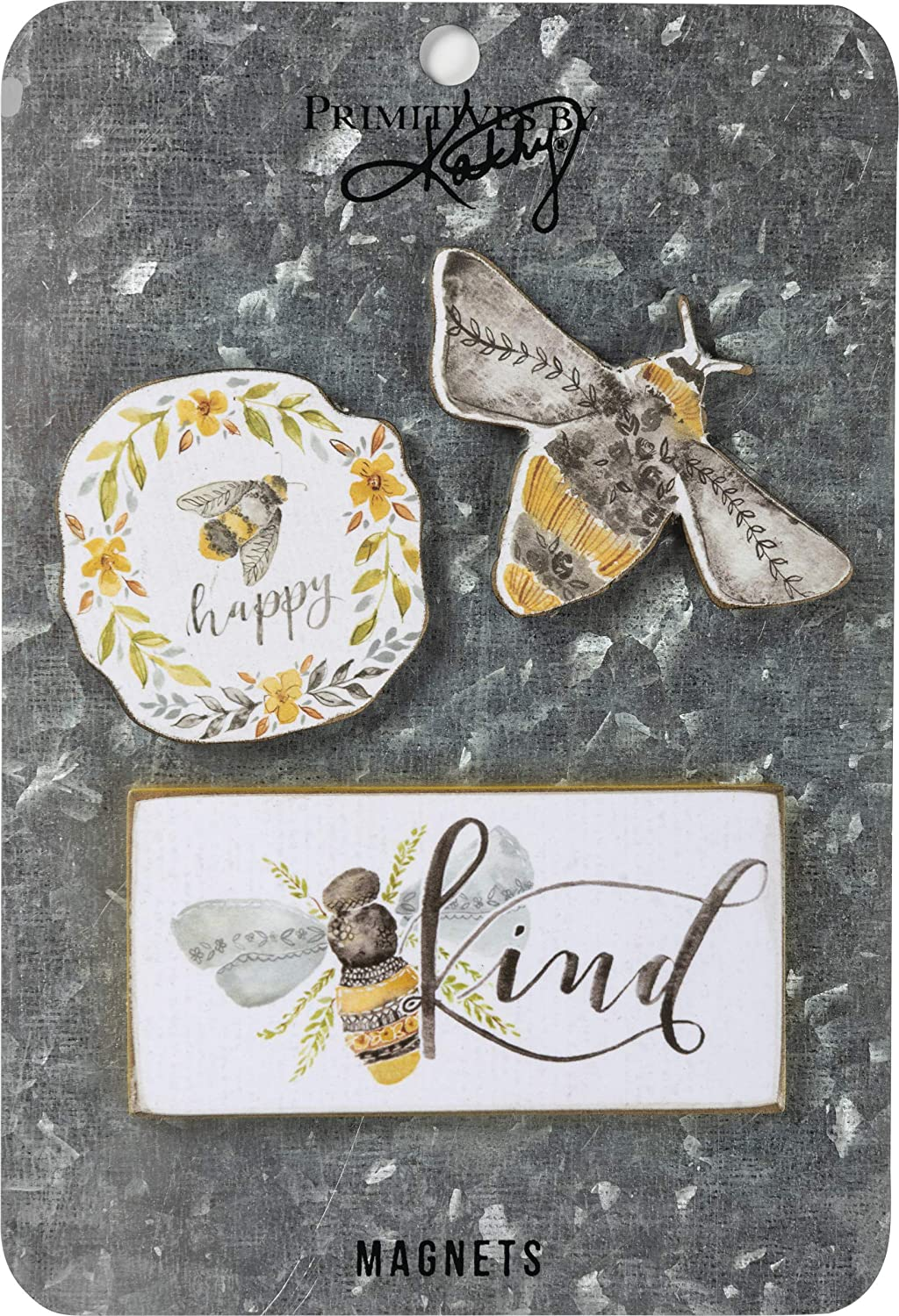 Primitives by Kathy Magnet Set, Set of 3, Bee