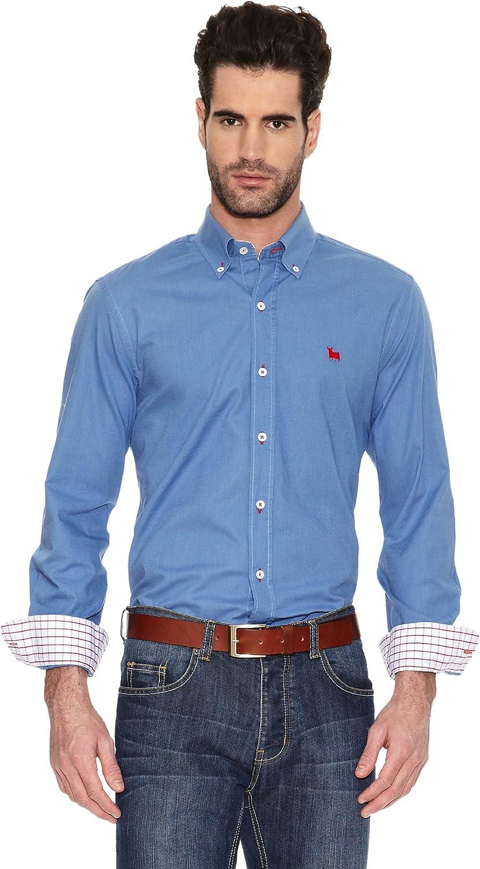 TORO Camisa Lisa Logo Small Azul L: Amazon.es: Ropa y accesorios