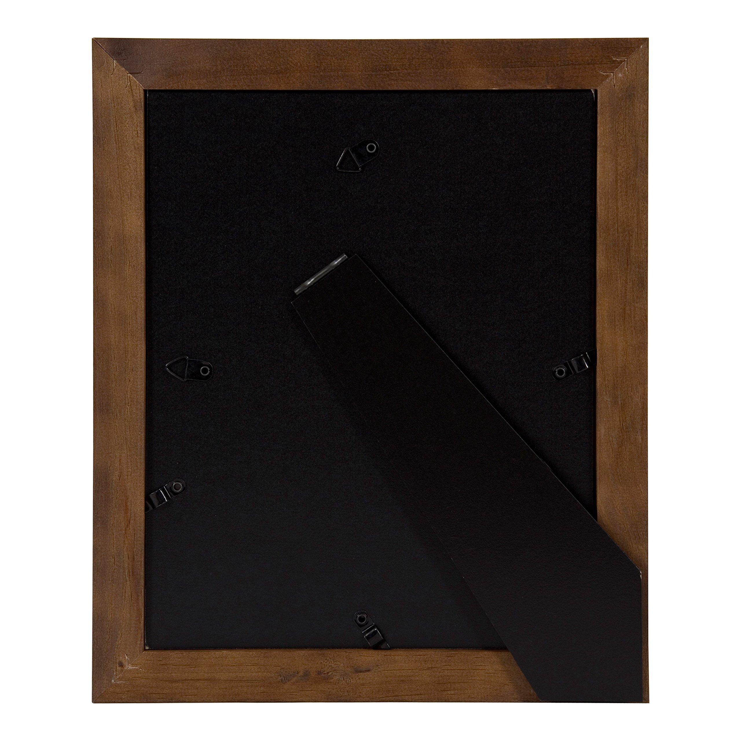 DesignOvation Kieva Solid Wood Picture Frames, Espresso Brown 8x10, Pack of 6 by DesignOvation (Image #5)