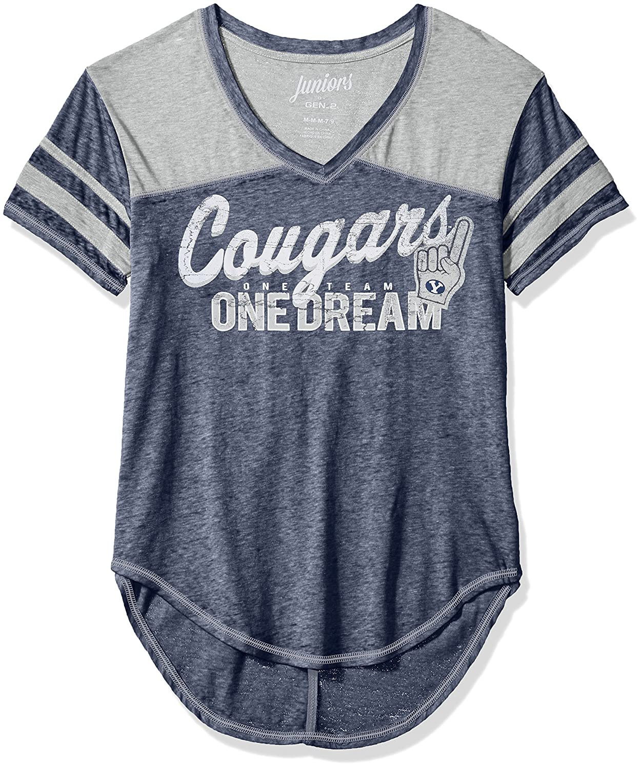 3-5 NCAA Byu Cougars Juniors Outerstuff Vintage Short Sleeve Football Tee Team Color Small