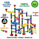 Thinkbox Toys 126 pc Light Up Marble Run Set for