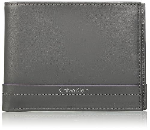 f9013143 Calvin Klein Jeans Elias 5cc+Coin, Billetera para Hombre, Gris (Castlerock)