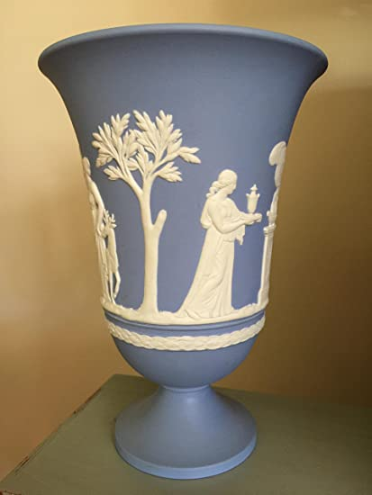 Amazon Vintage Wedgwood Black Jasper Ware Arcadian Vase With