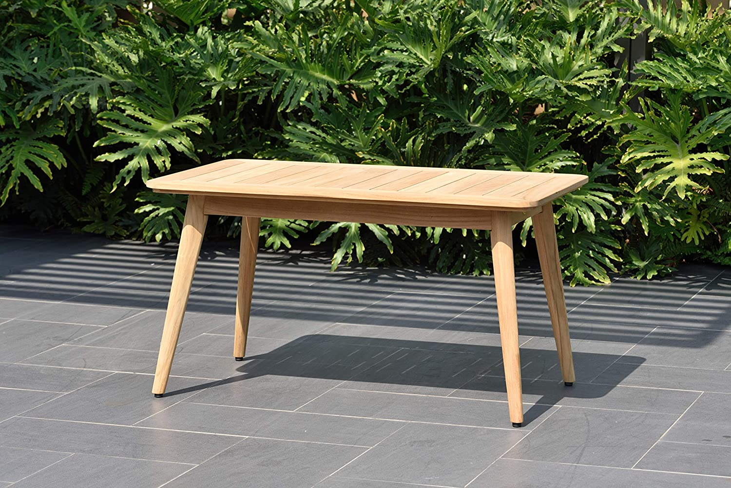 Amazonia Baytown Patio Durable Outdoor and Indoor Furniture Made of Teak | Modern Coffe/Side Table, Light Brown