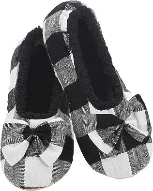 Buffalo Plaid Ballerina Womens Slippers