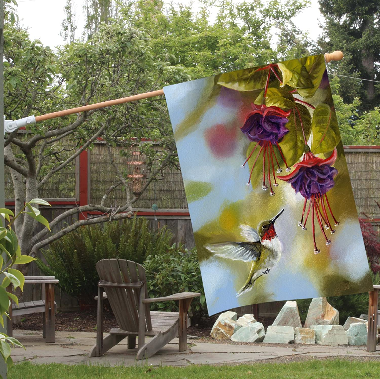 Toland Home Garden 102091 Hummingbird and Fuchsias 28 X 40 Decorative USA-Produced House Flag