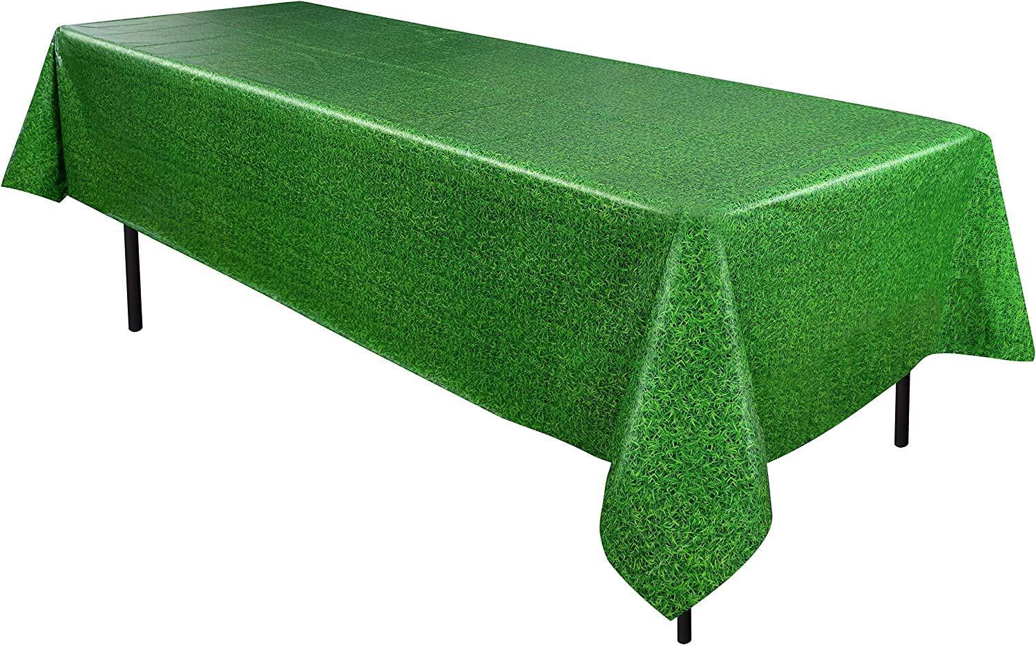 Kangaroo Grass Tablecover, Football Party Decorations Perfect For Super Bowl Themed Party (1/Pkg)