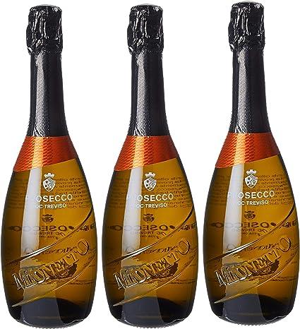 Prosecco doc treviso - 3 bottiglie da 0.75 lt. luxury mionetto 6731200