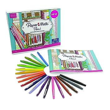 Amazon.com: Prismacolor 1989556 Paper Mate Flair Felt Tip Pens ...