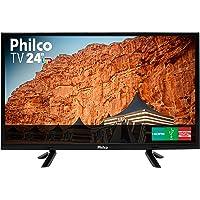 """TV LED 24"""" HD PHILCO PTV24C10D, Resolução HD, Recepção Digital, Preta Bivolt"""