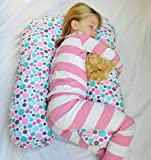 Sleep Zzz Bedtime Pillow w/ removable washable cover- Polka Pattern