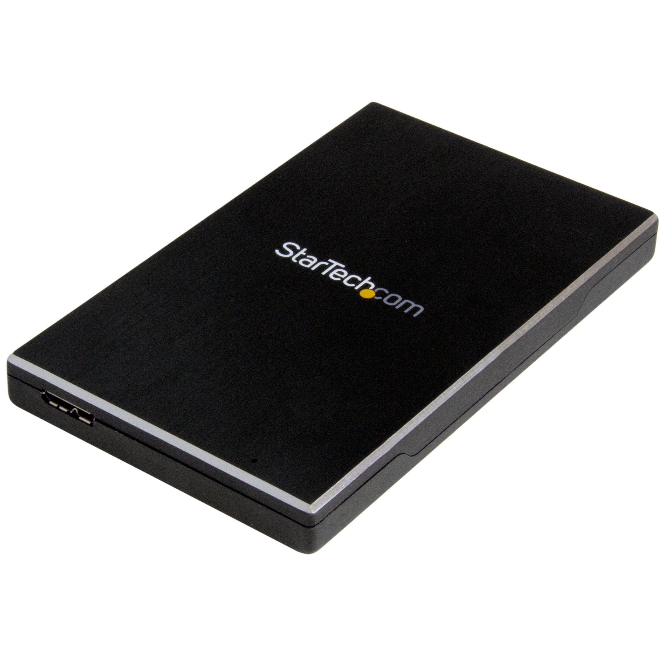 StarTech.com S251BMU313 2.5'' External Hard Drive Enclosure – Supports UASP – Aluminum – USB 3.1 Enclosure – SSD/HDD Enclosure