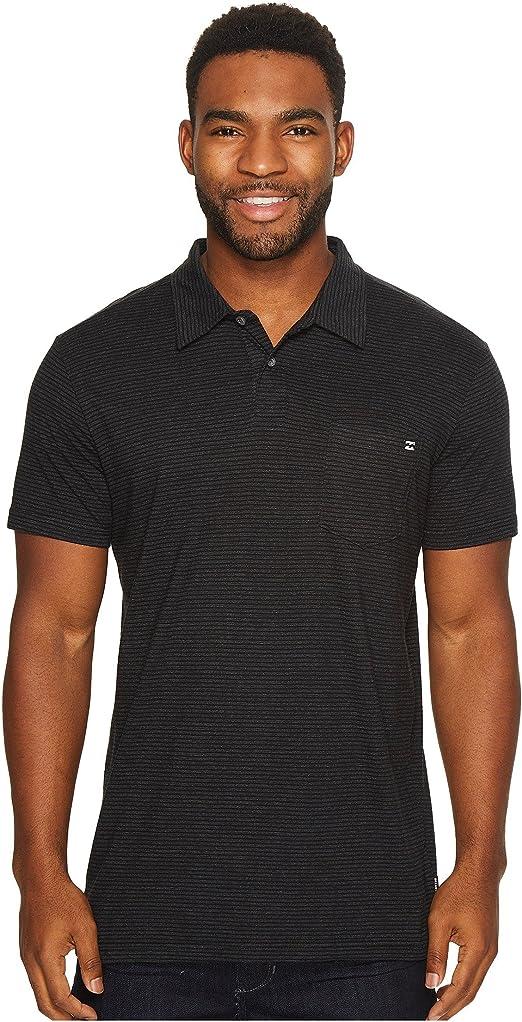 BILLABONG Hombres Manga Corta Camisa Polo - Negro -: Amazon.es: Ropa y accesorios