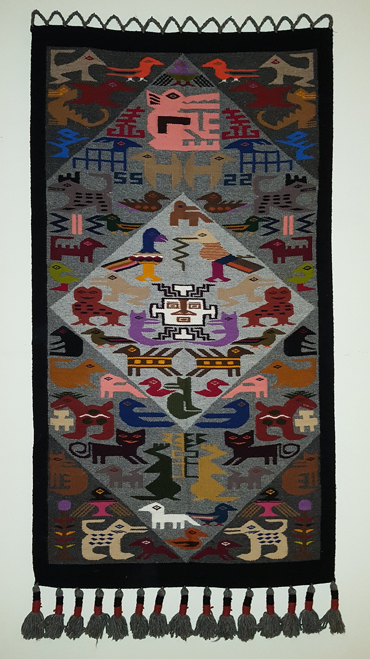 Tapestry from Ecuador - Pacha Mamma (Mother Earth); Traditional, Hand Woven, Hand Dyed, 100% Wool by Lonergan World Collection - Bringing Culture Home