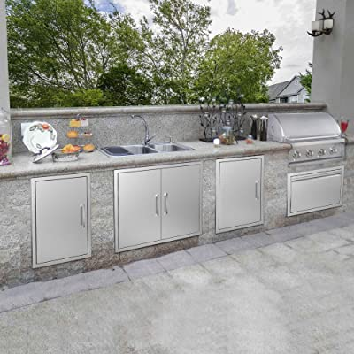 Buy Yitahome Outdoor Kitchen Doors 26 W X 24 H 304 Stainless Steel Bbq Access Door Brushed Double Wall Construction For Outdoor Indoor Kitchen Grill Station Barbecue Grill Bbq Island Online In Kazakhstan B08gs4vp16