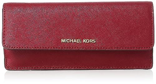 Michael Kors - Ginny Flat Wallet, Carteras Mujer, Morado (Mulberry), 2x9x20
