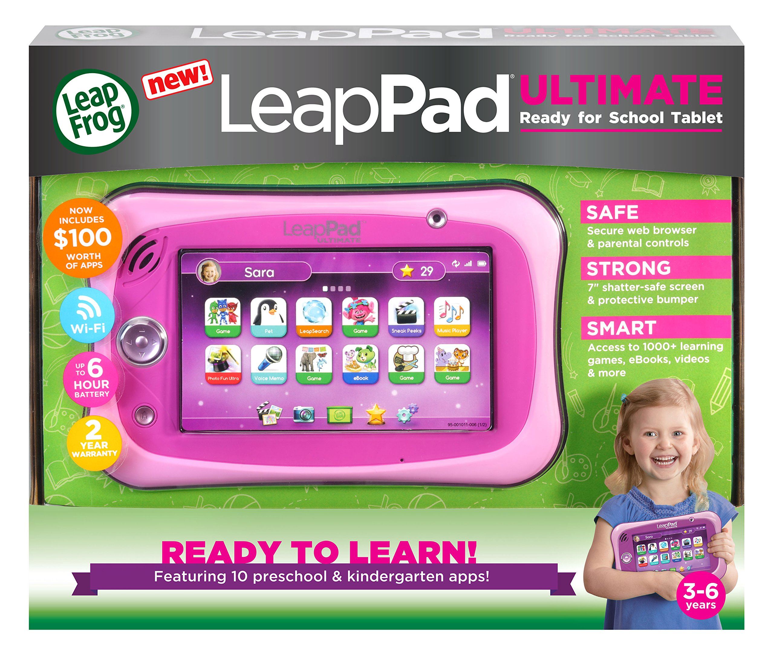 LeapFrog LeapPad Ultimate Ready for School Tablet, Pink by LeapFrog (Image #5)