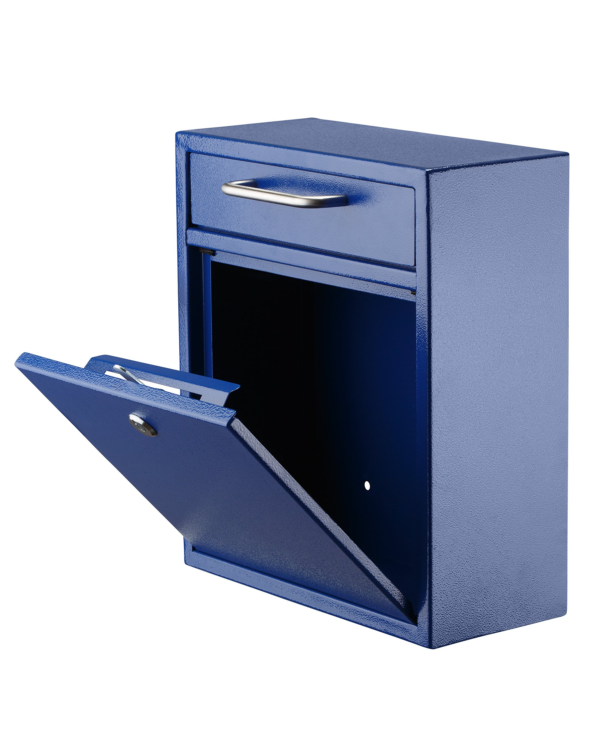 AdirOffice Locking Drop Box - Wall Mounted Mailbox - (Medium, Blue) by Adir Corp. (Image #2)