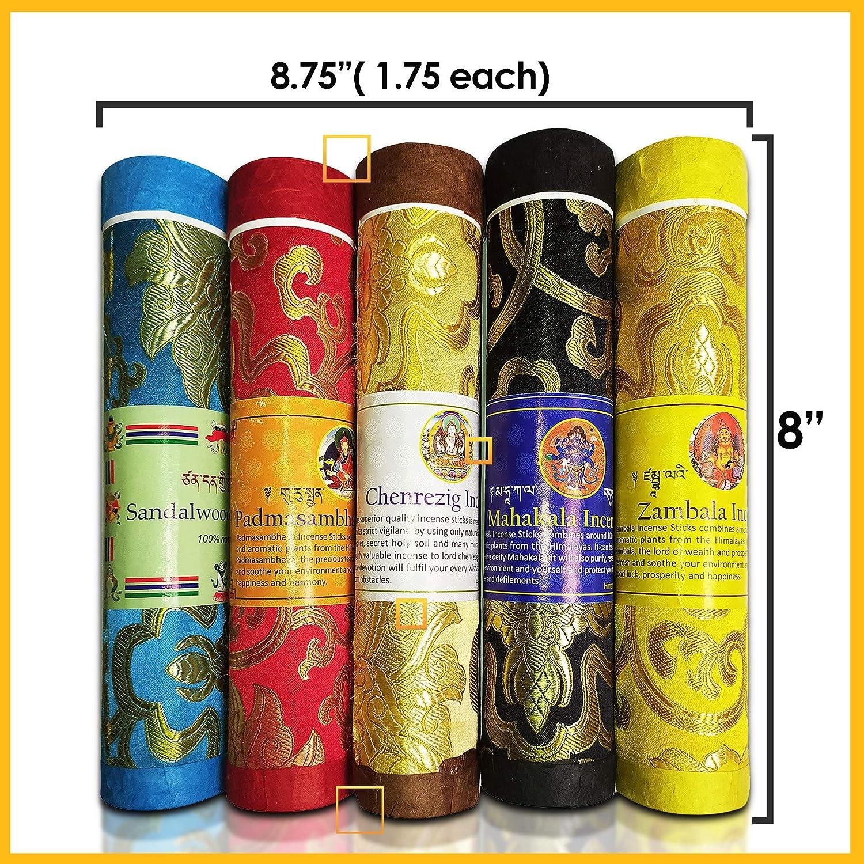 Spiritual Yoga Incense Sticks,Incense Stick Holder,Pack of 6 Incense Tubes