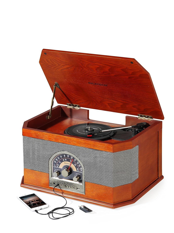 Ricatech RMC82 - Tocadiscos de 33-45-78 RPM, Reproductor de discos ...