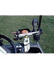 Molor - Organizador de Golf con Abrazadera para Carrito, Color Negro
