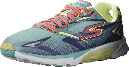psicología Enfatizar constantemente  Amazon.com | Skechers Womens GOrun 4 Aqua/Purple Running Shoe - 5 | Running
