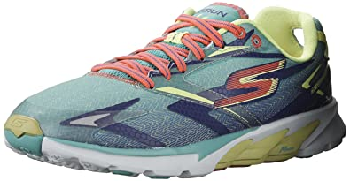 skechers running shoes. skechers womens gorun 4 aqua/purple running shoe - 5 shoes