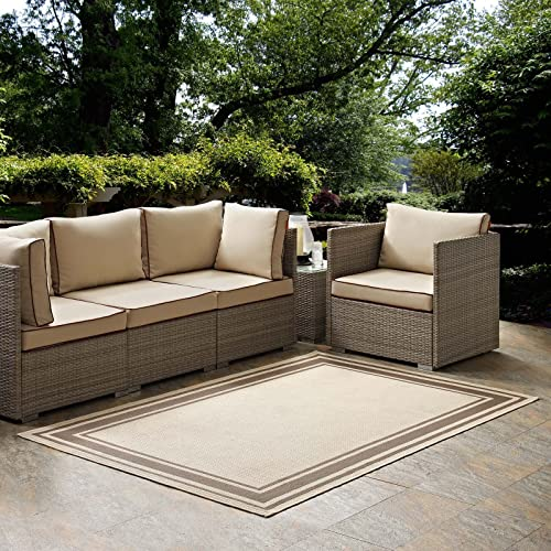 Modway R-1140A-58 Solid Borderline Indoor and Outdoor Rim Area Rug
