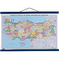 Gürbüz Yayınları 21011 Türkiye Fiziki + Siyasi, 35 x 50 cm, Çift Taraflı