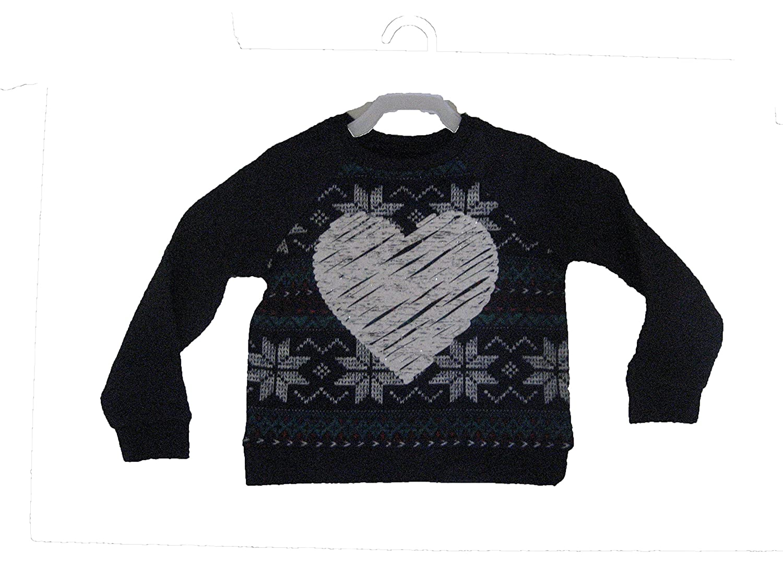 Navy Blue Sweatshirt with White Sparkle Heart 4T Arizona Jean Co. JCP