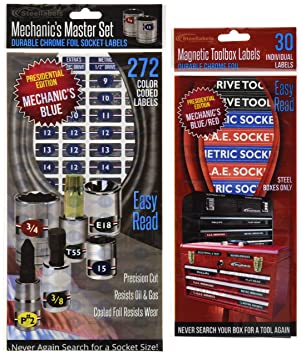 Steellabels CMAGBLU001 Magnetic Toolbox Combo Blue Edition-5 Sheet