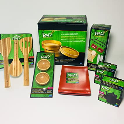 Sushi Making Kit and Bamboo Cooking Set - Bamboo Steamer - Stir Fry